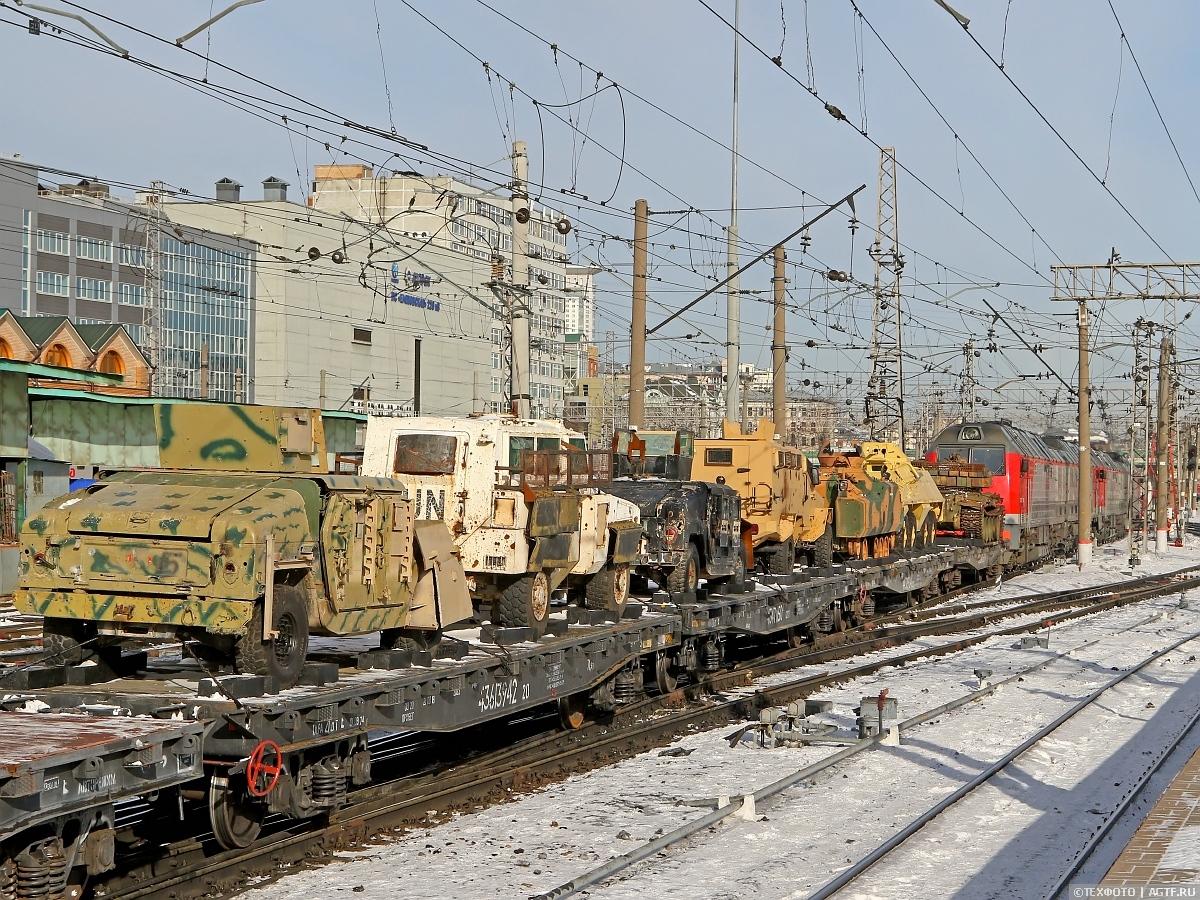 Отправление поезда с передвижной экспозицией «Сирийский перелом».