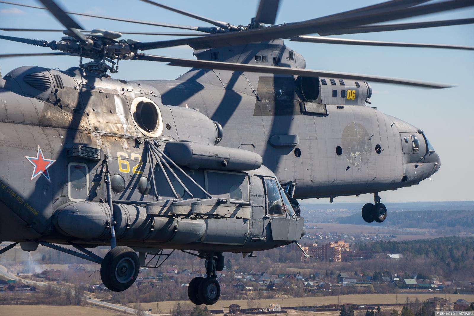 Подготовка к Параду — взгляд из Ми-8АМТШ