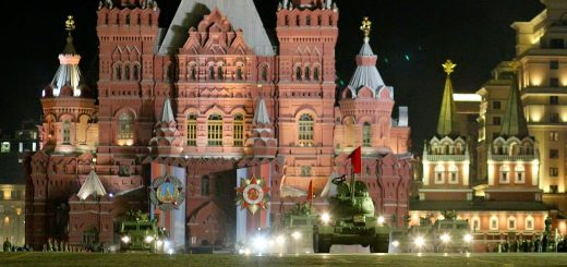 Ночная репетиция Парада Победы 2019.