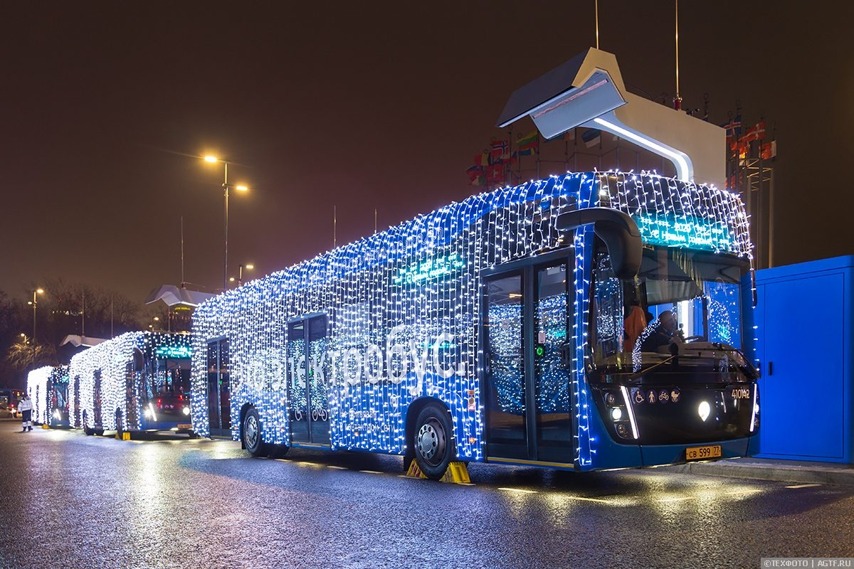 Запуск новогодних маршрутов в Москве.