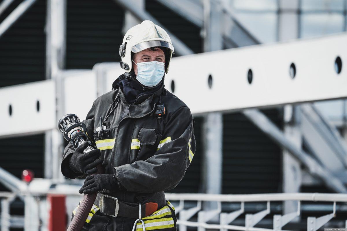 Пожарно-тактическое учение в башне «Империя» Москва-Сити