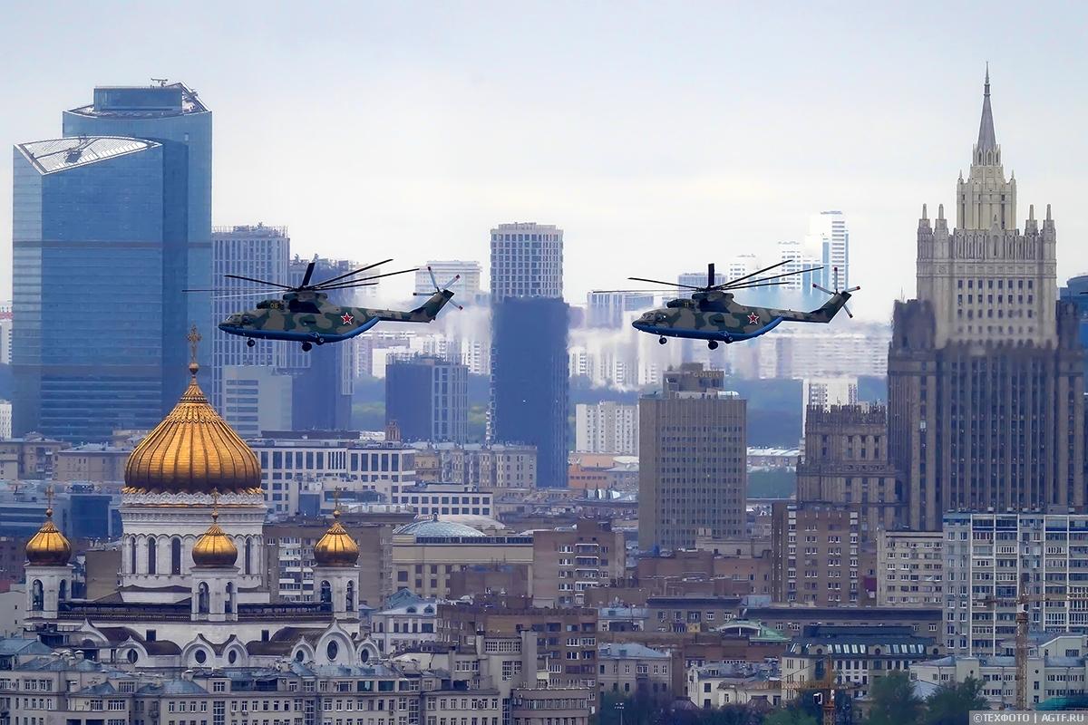 Парад Победы 2021. Первым делом… Вертолеты!